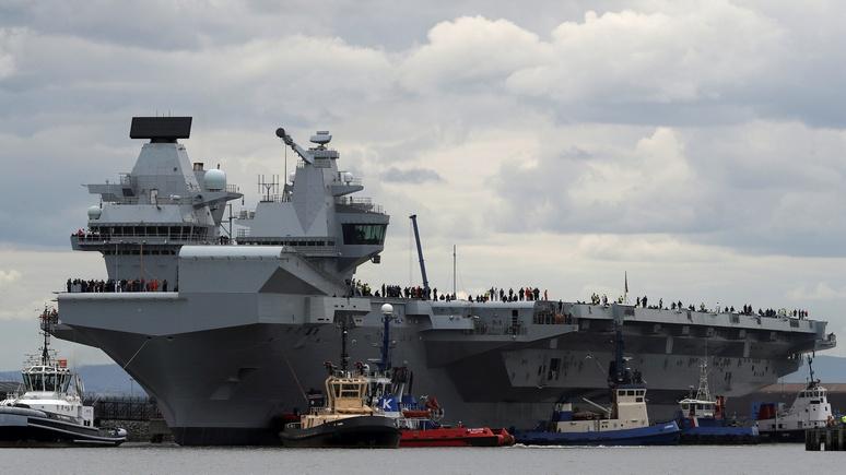 DM: дорогие британские авианосцы беззащитны перед дешёвыми российскими ракетами