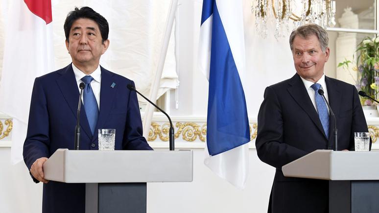 Yle: премьер Японии и президент Финляндии обсудили Россию, торговлю и муми-троллей