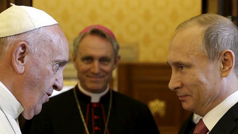 Politico определил, за что папа любит Путина