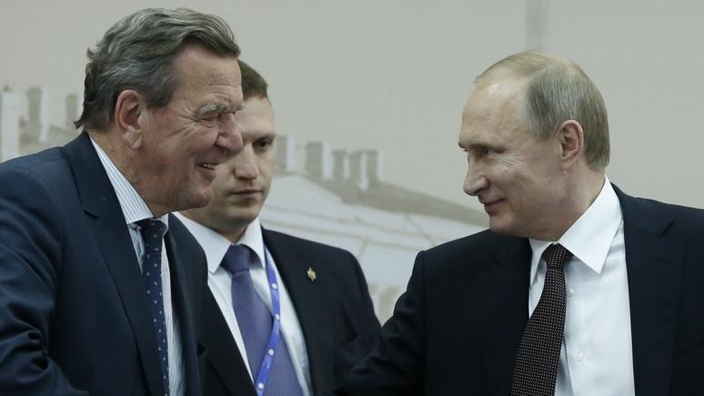 Bild: Шрёдер может дружить с Путиным, но тогда на выборах ему не место