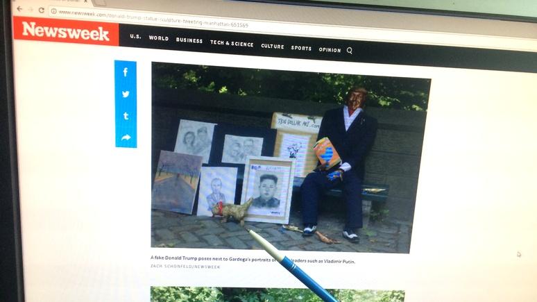 Newsweek: автор «Писающего мопса» воздвиг памятник Трампу и его твитам