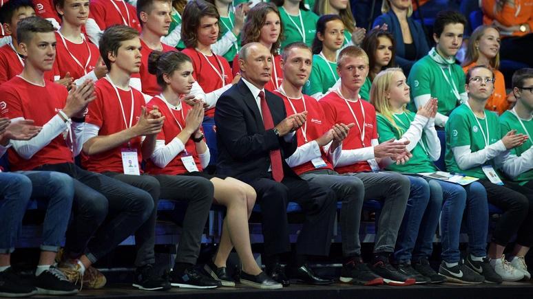 Figaro: в День знаний Путин пытался понравиться и ученикам, и их родителям