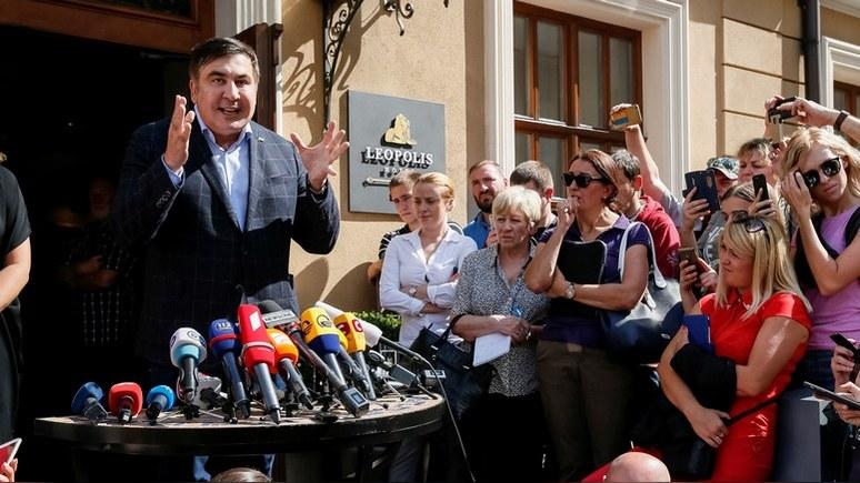 УП: генпрокурор Украины пообещал не арестовывать Саакашвили за «прорыв»