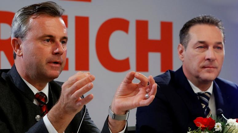 NYT: в австрийское правительство может войти партия с «порочными связями с Кремлём»