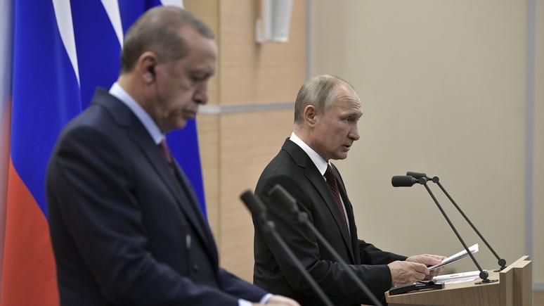 DWN: Путин похоронил великодержавные амбиции Эрдогана