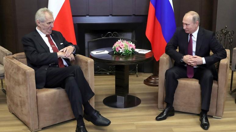 Le Figaro: президент Чехии призвал покончить и с санкциями, и с контрсанкциями