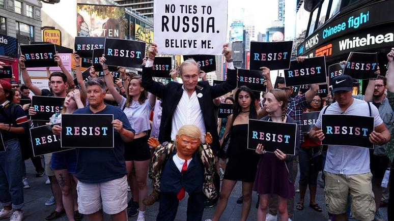 Inquisitr: более 40% американцев уверены, что Трамп на посту президента благодаря русским