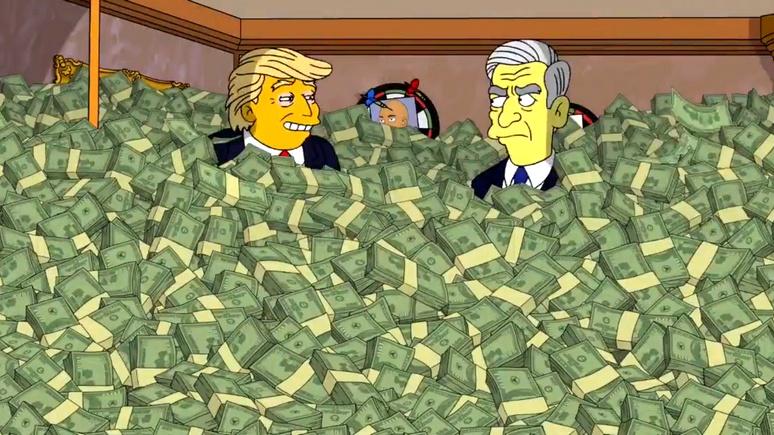 Mirror: «Я даю лучшие взятки» — «Симпсоны» представили встречу Трампа и Мюллера