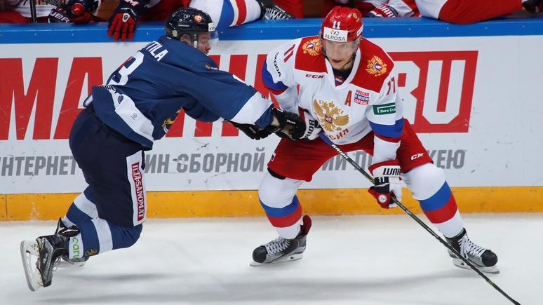 Yle: российские хоккеисты «задали трёпку» финским «львам»