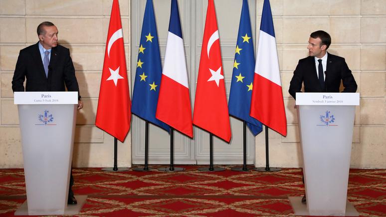 HuffPost: с Эрдоганом Макрон говорил так же смело, как и с Путиным