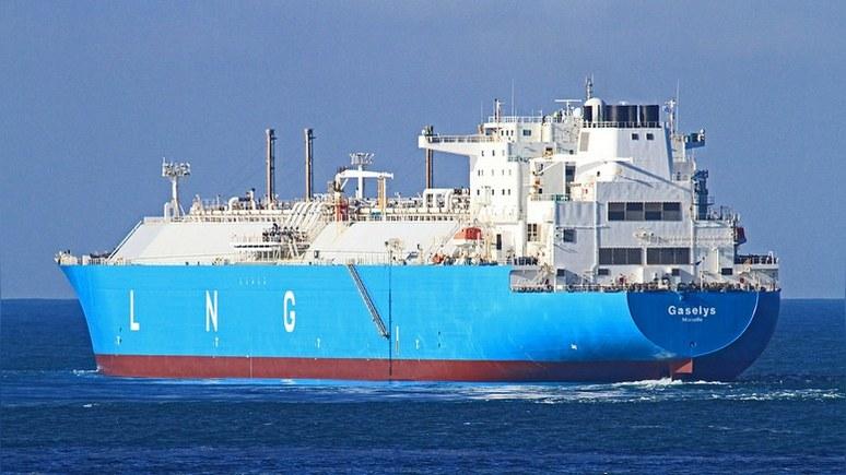 Bloomberg: танкер с российским газом развернулся, не доплыв до США