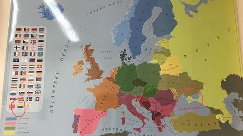 Сегодня: в Чехии изымают из школ «некорректные» карты с российским Крымом