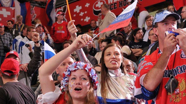 Ran: Международный хоккей случайно поддержал Россию её национальными флагами