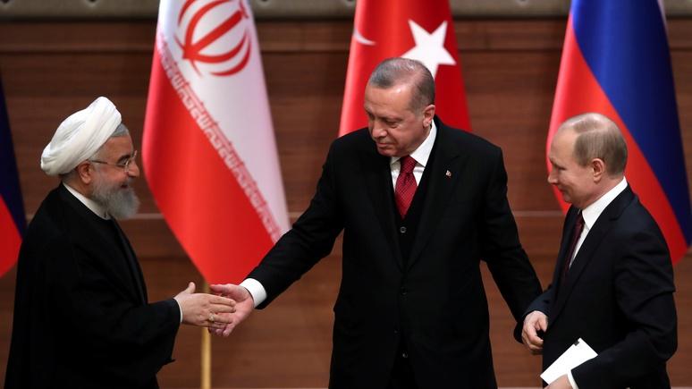 Daily Mail: «неправдоподобный альянс» России, Турции и Ирана бросает вызов США