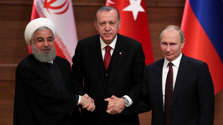 Libération: Анкара, Тегеран и Москва выступили против Запада единым фронтом