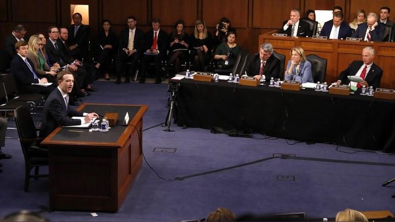 BBC: Цукерберг поведал сенату о «гонке вооружений» между Facebook и Россией