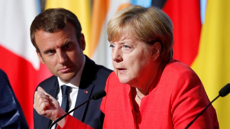 Stratfor: Макрон едет к Трампу наводить мосты, а Меркель — просить об отмене санкций