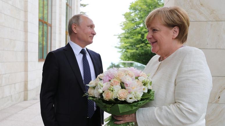 Bild расценил букет для Меркель как «оскорбление»
