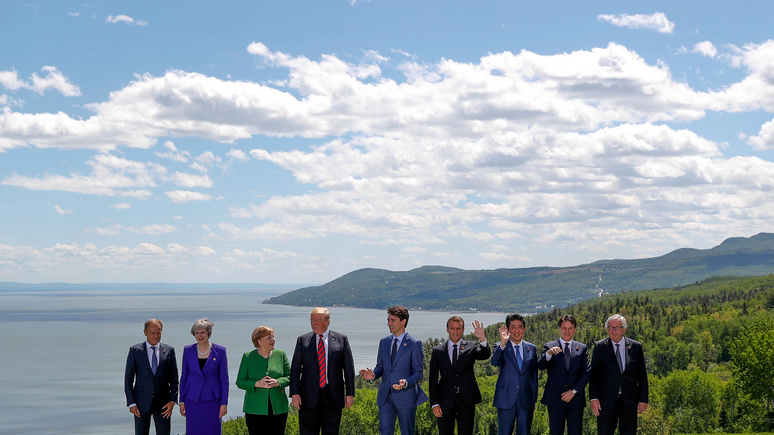 WSJ: на саммите G7 Трамп грубил Юнкеру и Абэ, а Джастина Трюдо — поддразнивал