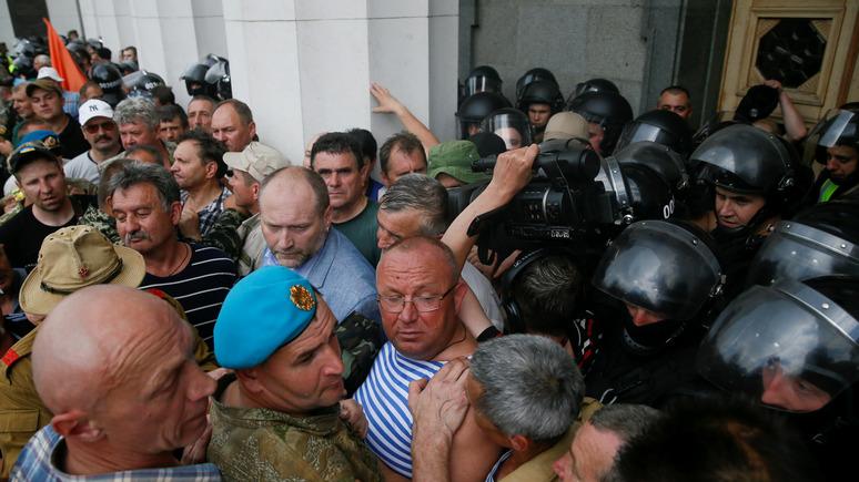 СТРАНА.ua: шахтёры, афганцы и чернобыльцы потребовали выплаты зарплат и возвращения льгот