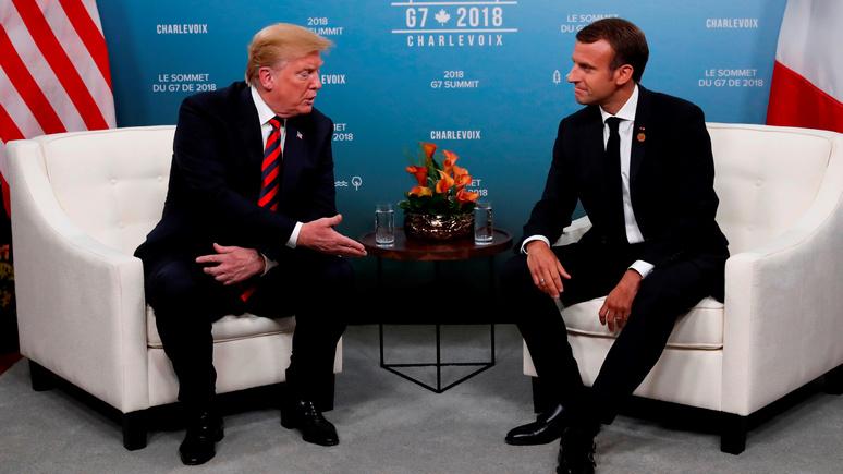 Обозреватель WP: Трамп предложил Макрону более выгодную торговую сделку в обмен на выход Франции из ЕС