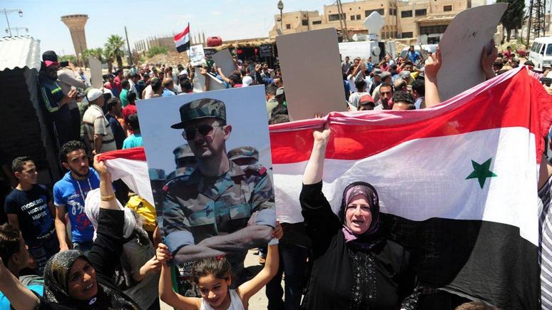 Das Erste: символичная победа Асада — очаг протестов возвращается под контроль Дамаска