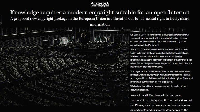 TechCrunch: «Википедия» на испанском, итальянском и польском закрылась ради свободы слова