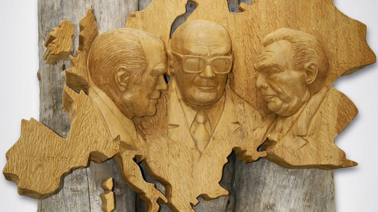 Yle: перед саммитом в Хельсинки финны вспомнили о пылящемся барельефе с Брежневым и Фордом