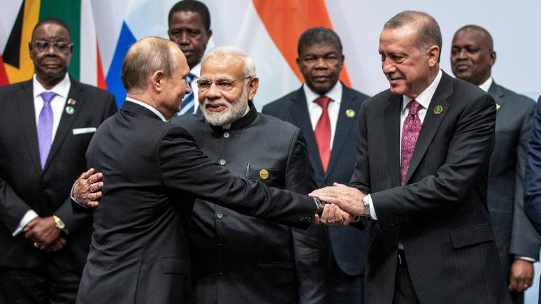 Hürriyet Daily News: Эрдоган предложил дополнить БРИКС буквой Т