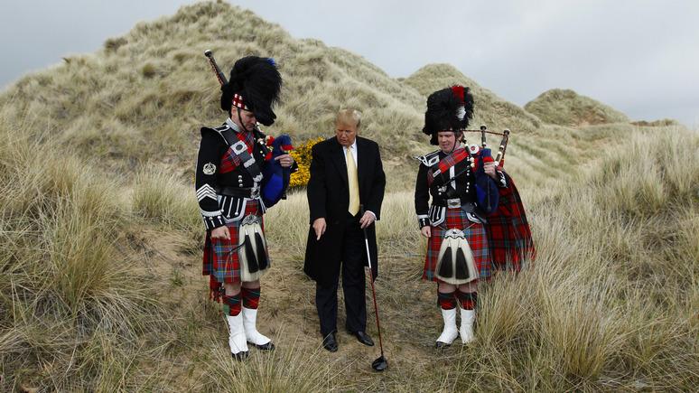 Guardian: семейный бизнес Трампа разрушил часть уникальных песчаных дюн Шотландии