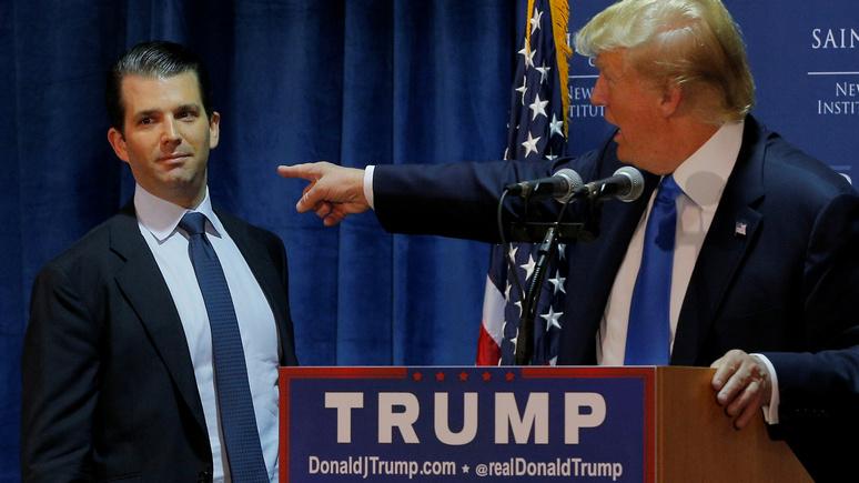 NY Magazine: Трамп признал, что его сын хотел получить «компромат русских» на Клинтон