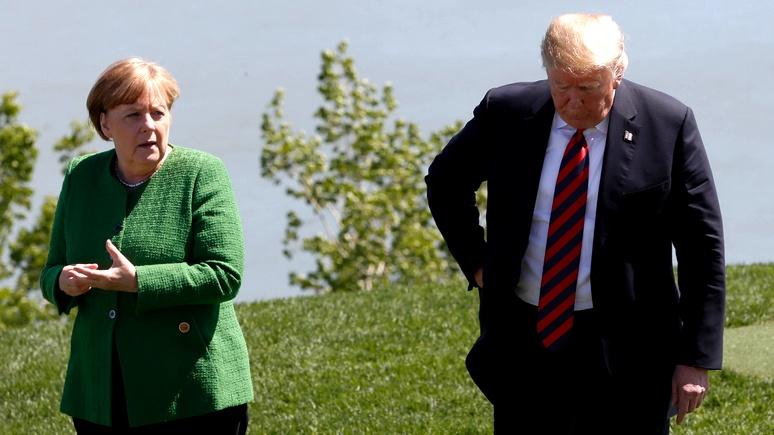 Не сексизм, а психология — Times разобралась в конфликте между Трампом и Меркель