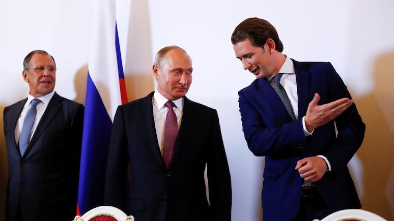 Gazeta Wyborcza: Австрия рискует поплатиться за приглашение Путина на свадьбу главы МИД