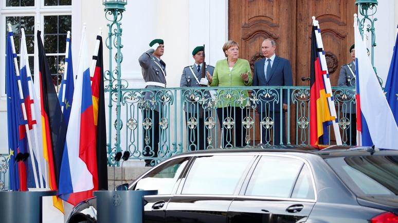 SN: переговоры с Меркель «искушённый тактик из Москвы» провёл с козырем в рукаве