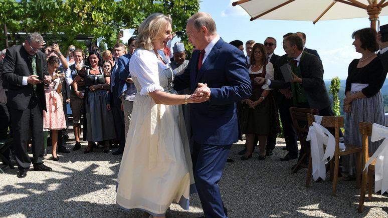 DLF: за «весёлый книксен» перед Путиным в Австрии предлагают гнать с должности