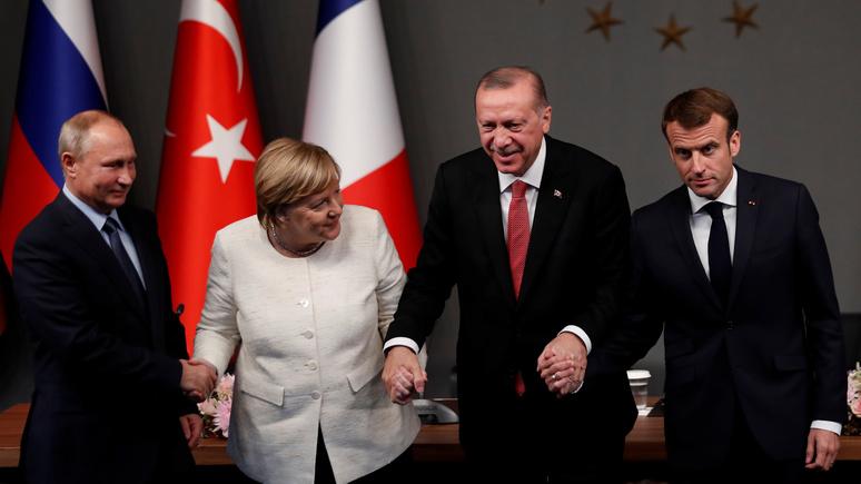 Bild: Меркель раскритиковали за «излишнее дружелюбие» к Путину и Эрдогану