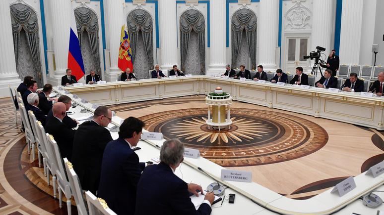 Frankfurter Allgemeine: немецкий бизнес добивается благосклонности Путина