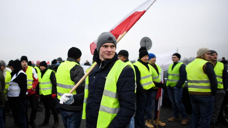 СТРАНА.ua: польские «жёлтые жилеты» потребовали пошлин на украинские товары