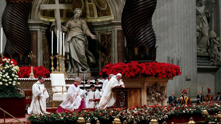 Das Erste: Папа Римский в Рождество напомнил христианам, что счастье не в роскоши, а в любви