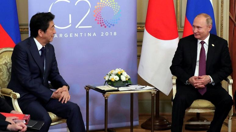 Nikkei Asian Review: по дороге в Давос Абэ заедет к Путину — обсудить вопрос Курил