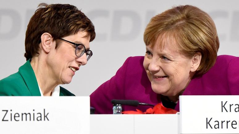 SZ: высокая популярность может сыграть с преемницей Меркель злую шутку
