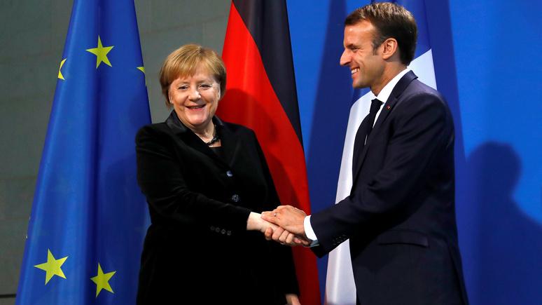 FAZ: евроскептики укрепляются на фоне слабеющих Макрона и Меркель