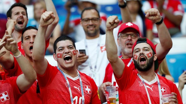 Blick: Швейцария «потеряла» в России десятки своих болельщиков