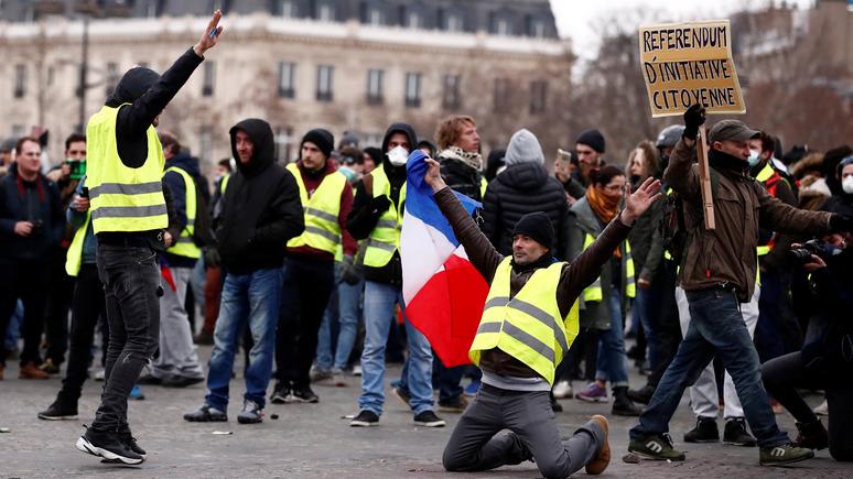 Le Figaro: движение «жёлтых жилетов» приносит выгоду RT France