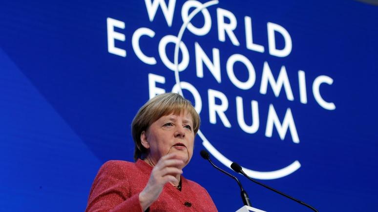Bild: Меркель в Давосе пошла против Трампа, вступившись за многополярный мир