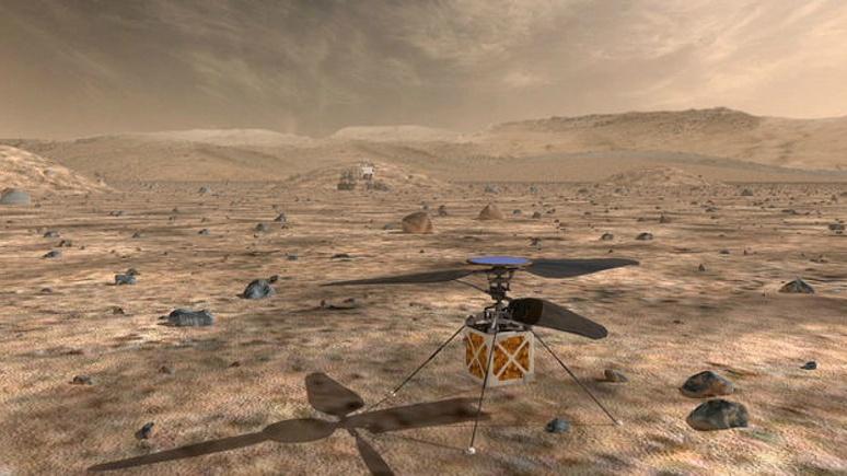 Telegraph: NASA успешно испытало марсианский вертолёт в условиях Красной планеты