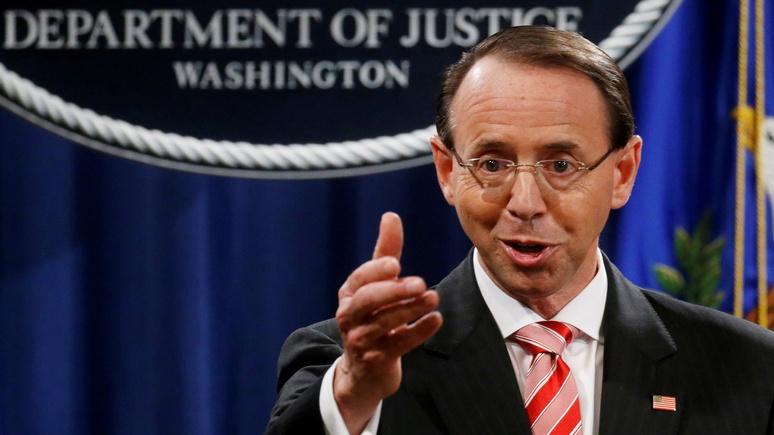 NPR: «лицо российского расследования» Род Розенстайн уходит в отставку