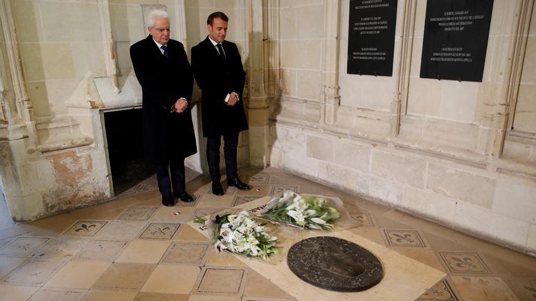 BFM TV: Франция и Италия пробуют примириться в память о Да Винчи