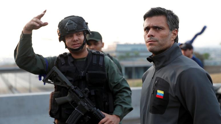 El Mundo: испанское посольство приютило венесуэльского оппозиционера Леопольдо Лопеса в качестве гостя