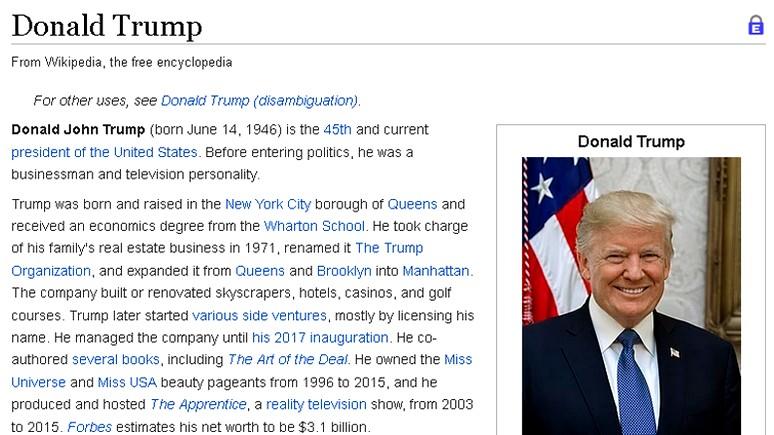 Slate рассказал, как Трамп сеет раздор между составителями «Википедии»